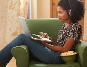 Shot of a young woman surfing the internet on her laptop at homehttp://195.154.178.81/DATA/i_collage/pu/shoots/799607.jpg